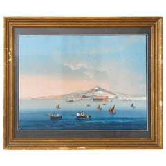 19th Century Grand Tour Gouache of Capri