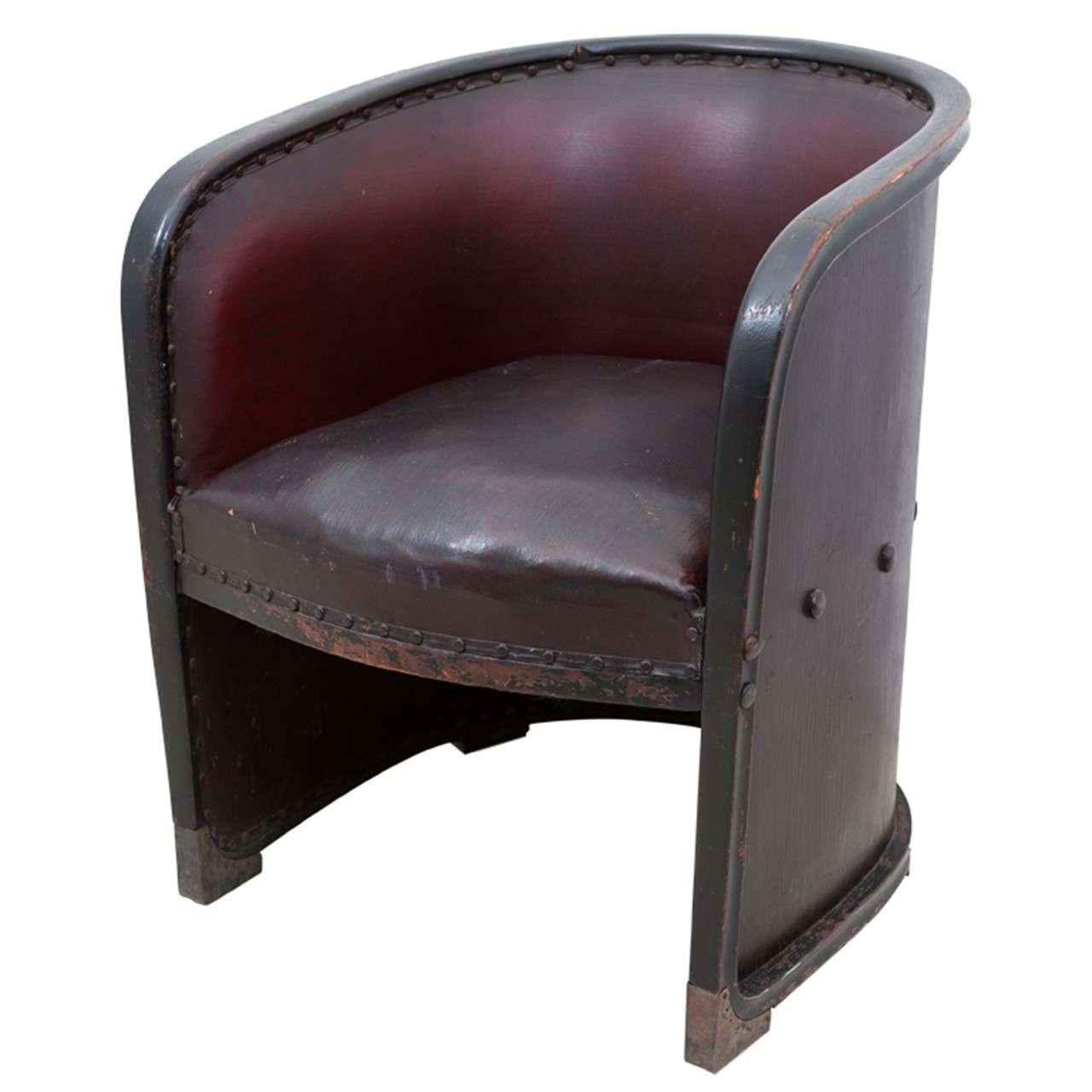 josef hoffmann 1870 1956 barrel armchair at 1stdibs