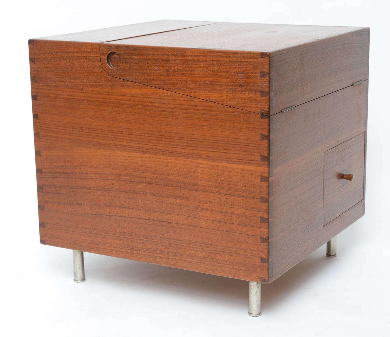 Danish Hans Wegner Cube Bar For Sale