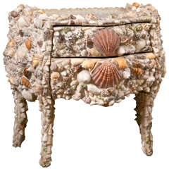 Antique Commode with Shell Decoration