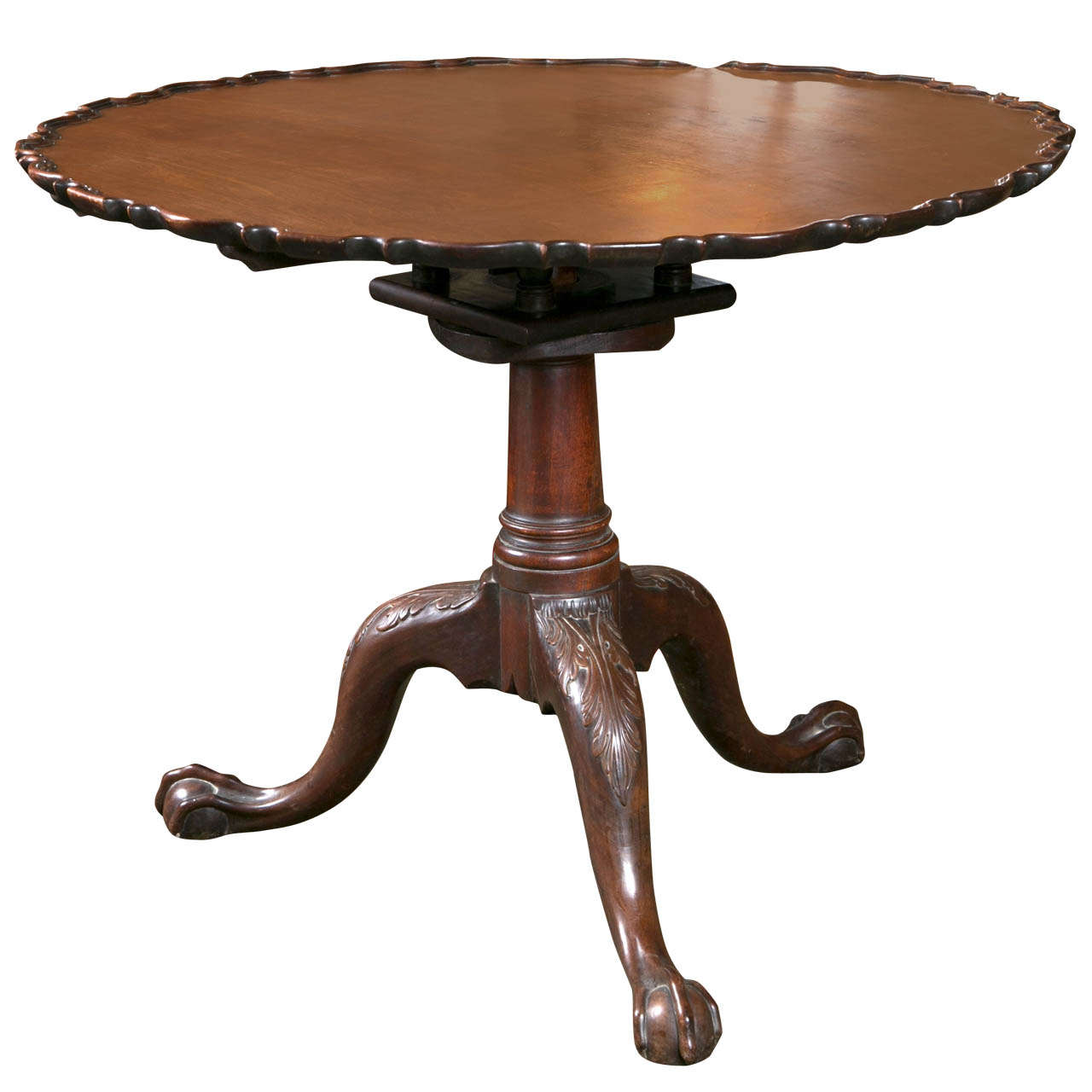Chippendale Pie Crust Tilt Top Table For