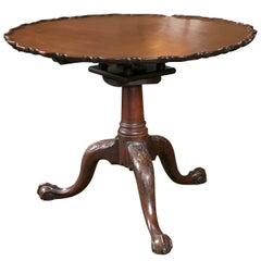 Chippendale Pie Crust Tilt Top Table