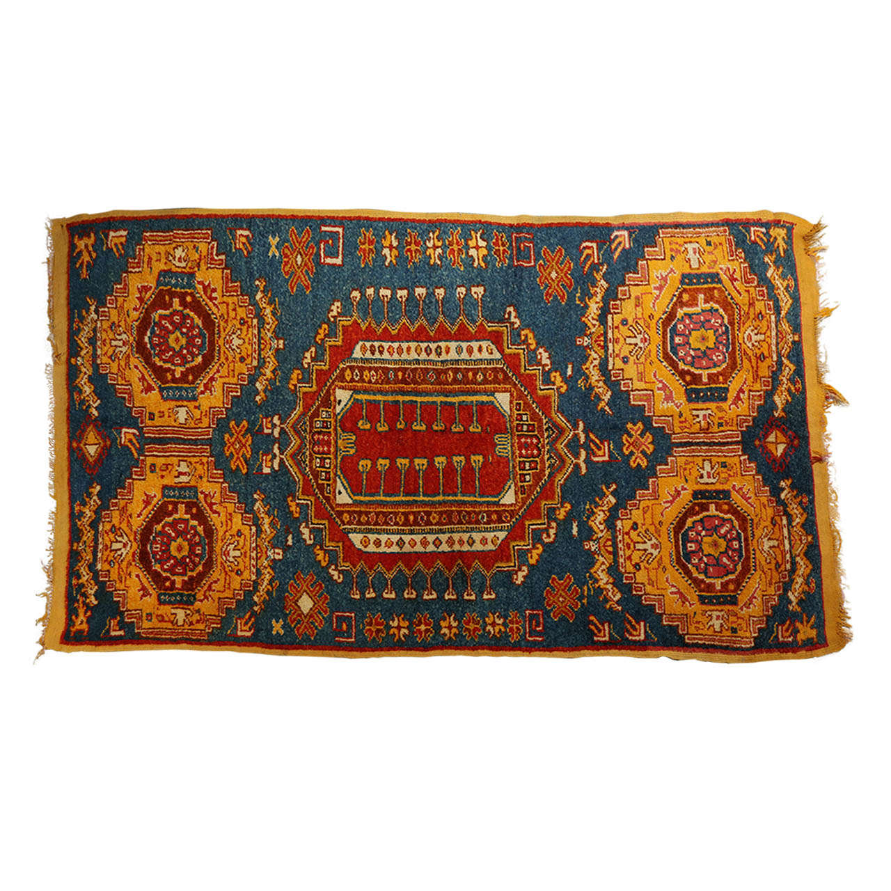Moroccan Tribal North African Rug