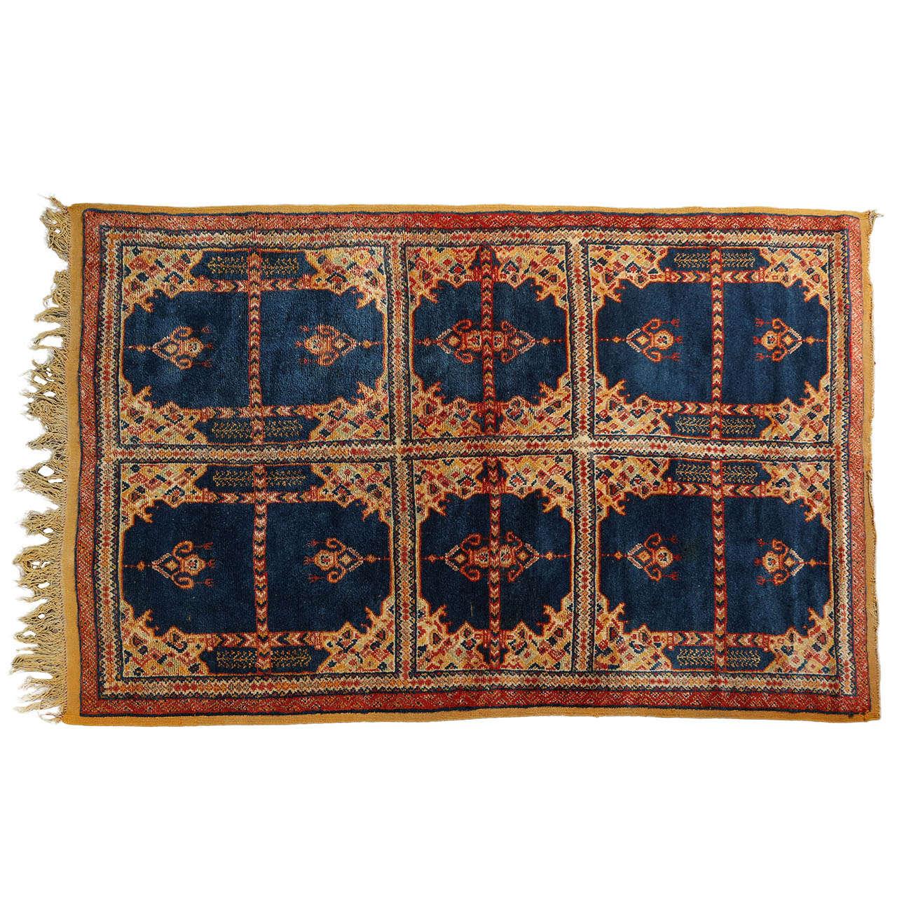 Vintage Moroccan Tribal African Rug