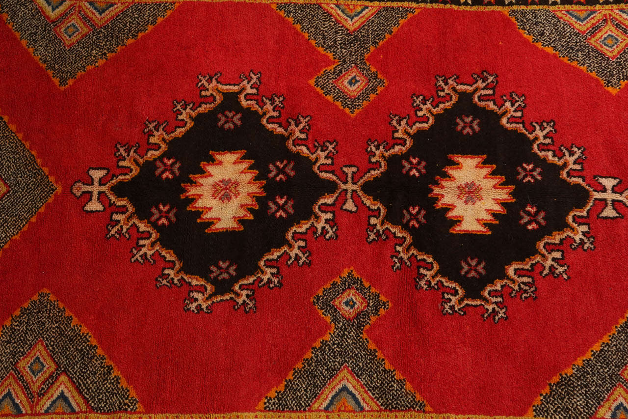 Hand-Woven Vintage Moroccan Tribal African Rug For Sale