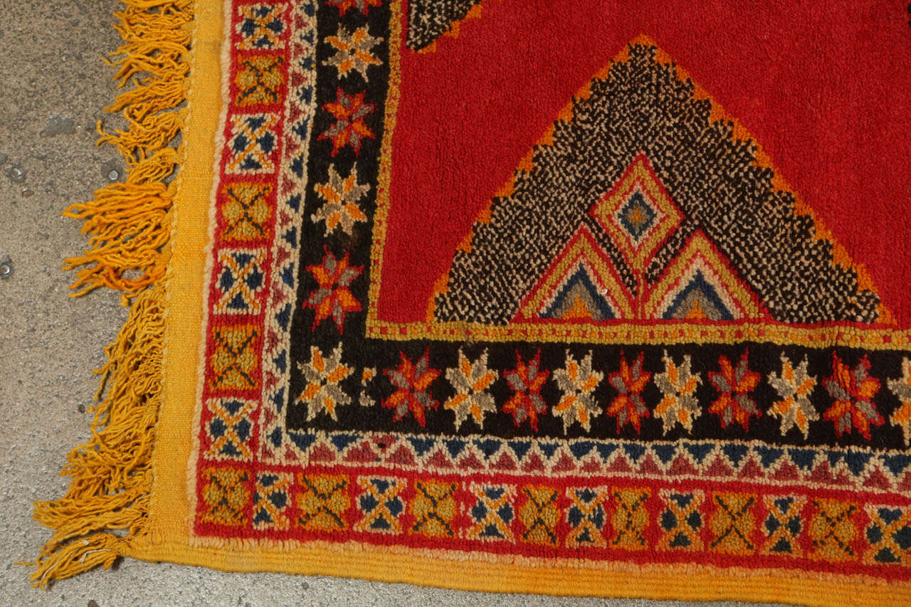 Mid-20th Century Vintage Moroccan Tribal African Rug For Sale