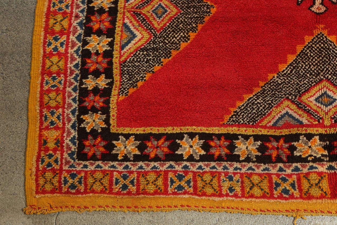 Wool Vintage Moroccan Tribal African Rug For Sale