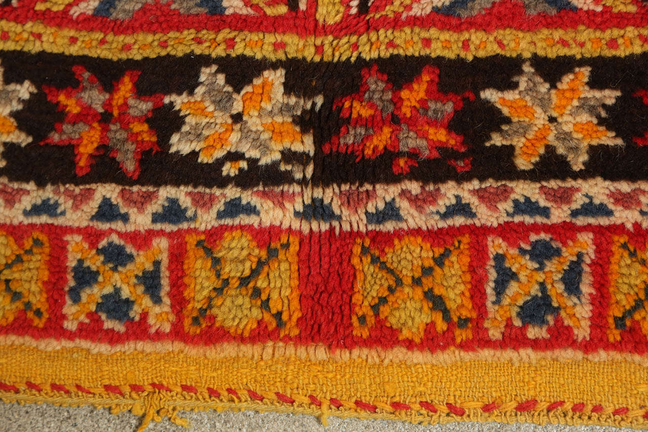 Vintage Moroccan Tribal African Rug For Sale 1