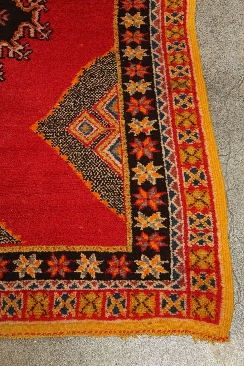 Vintage Moroccan Tribal African Rug For Sale 2