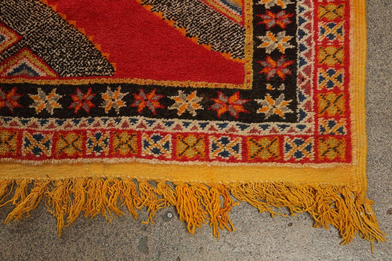 Vintage Moroccan Tribal African Rug For Sale 3