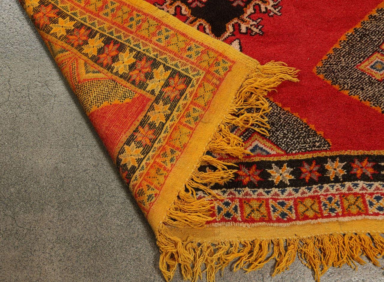 Vintage Moroccan Tribal African Rug For Sale 4