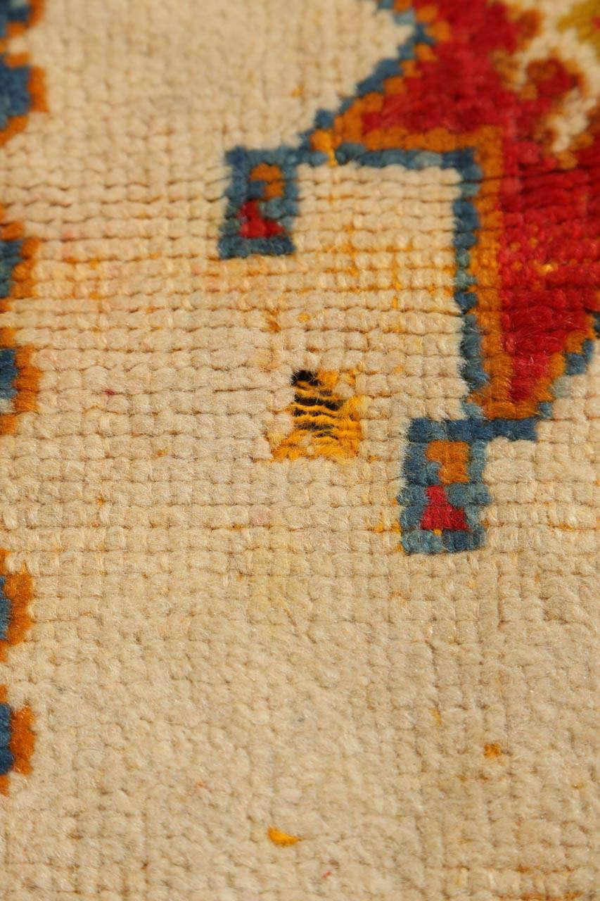 Wool Vintage Moroccan Orange Tribal Rug For Sale