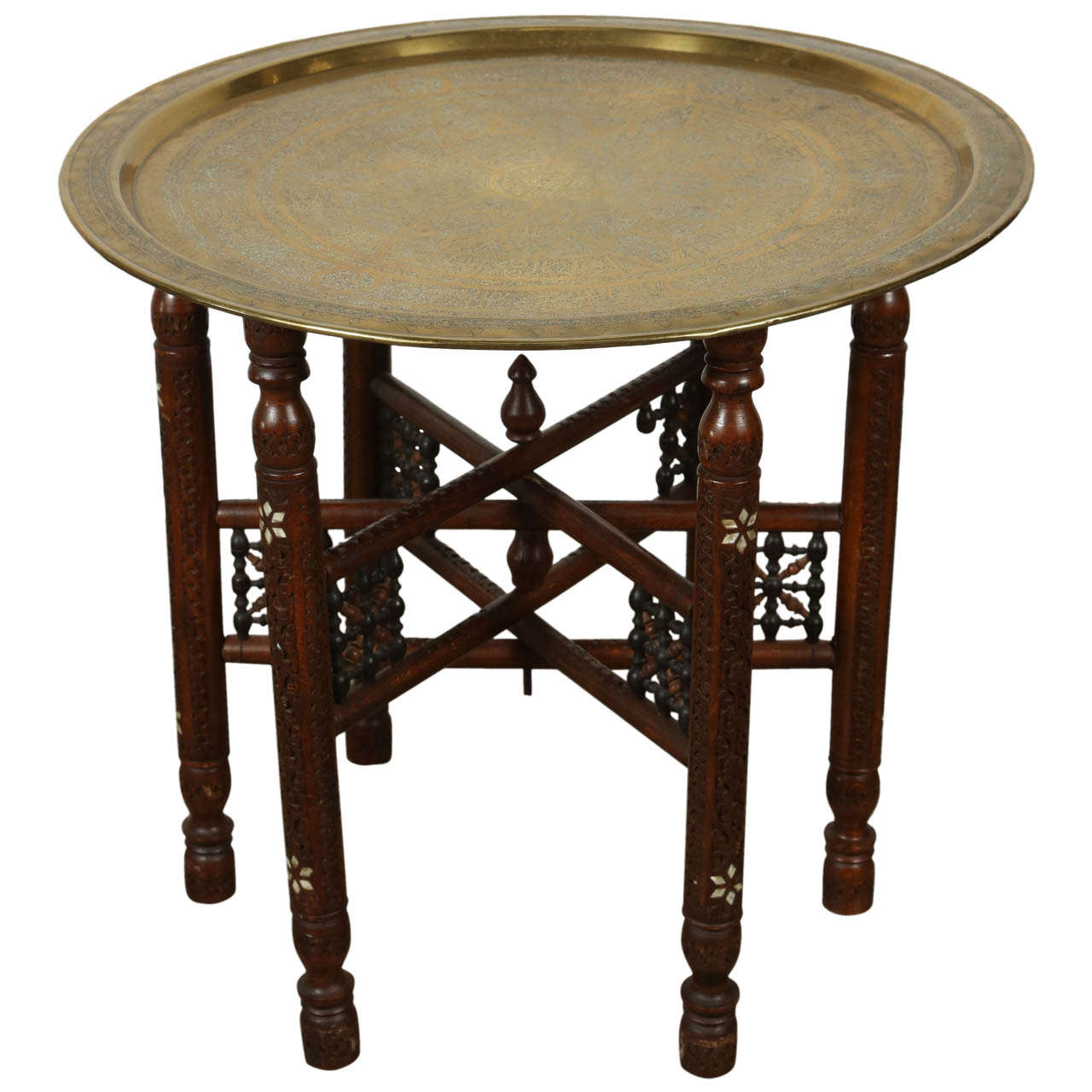 persian mameluke style brass tray table at 1stdibs