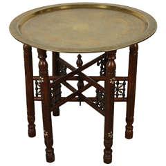 Persian Mameluke Style Brass Tray Table