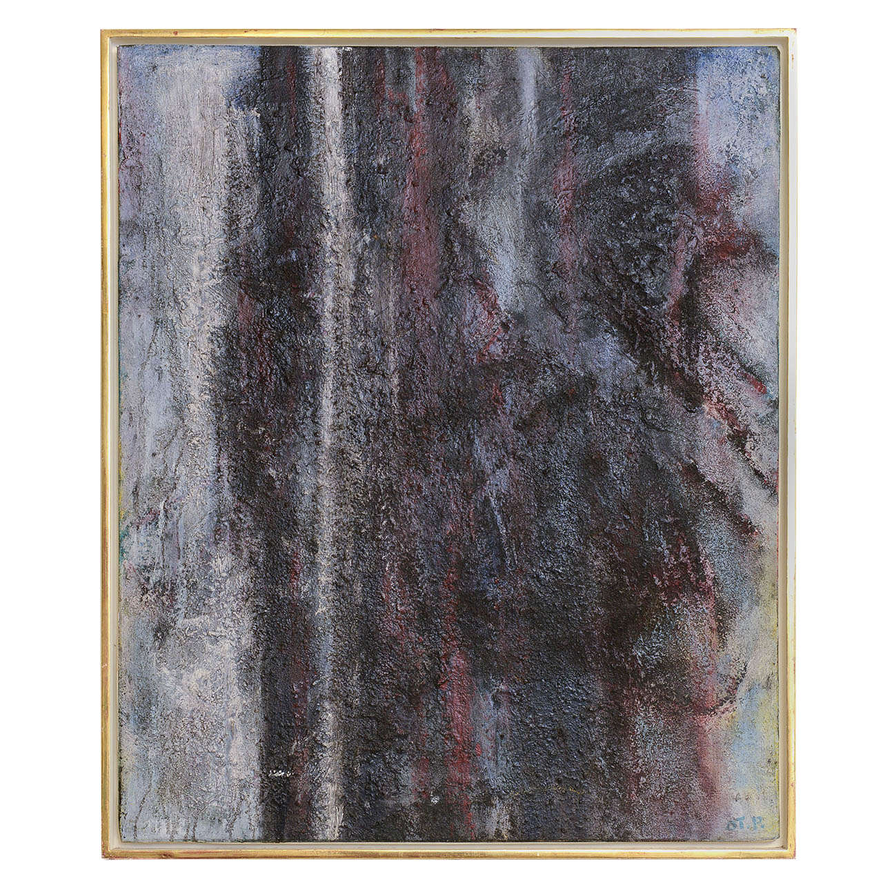 Danish Abstract Composition Signed Ot P