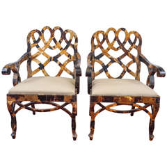 Pair of Tessellated Horn Chairs