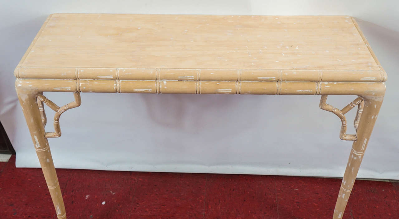Faux Bamboo Console Table At 1stdibs