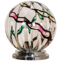 Important Seguso Glass Bowl Table Lamp by Seguso, Murano, Italy, 1970-1980