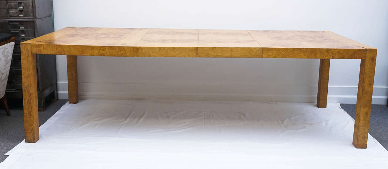 Lane Burl Wood Parsons Dining Table By Milo Baughman At 1stdibs