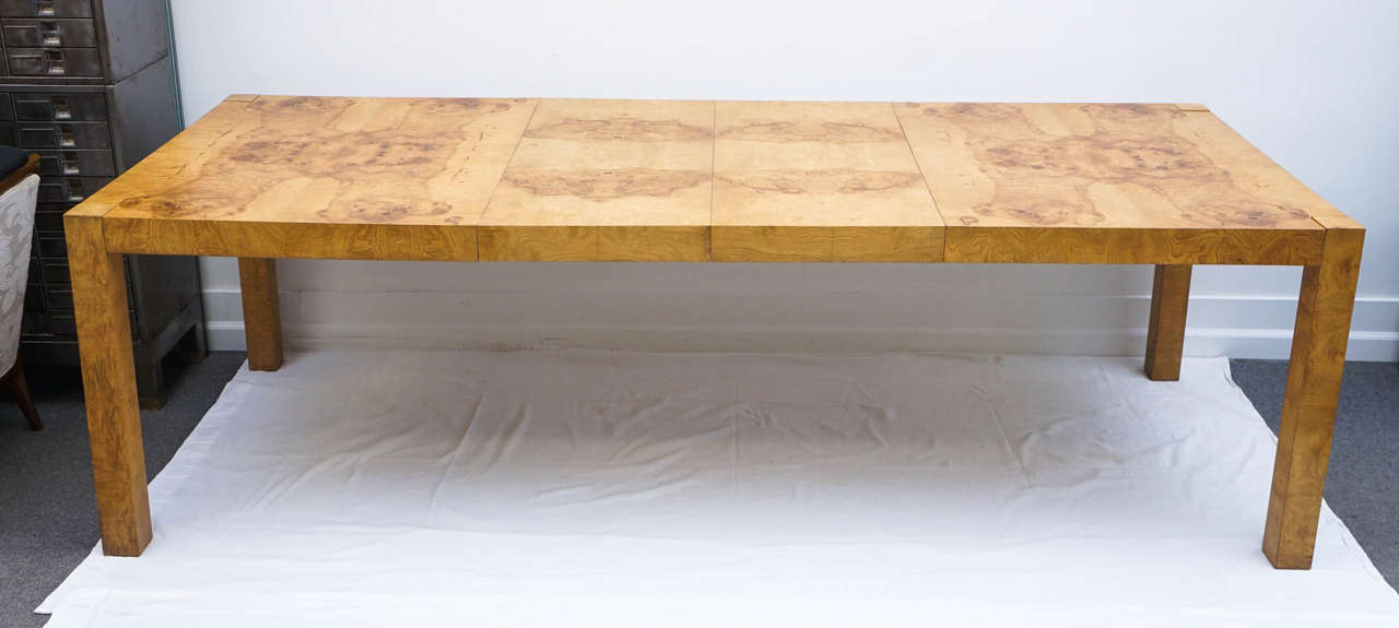 Nice Mid Century Modern Lane, Burl Wood Parsons Dining Table By Milo Baughman 3