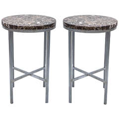 Pair of Mid Century Marble Tables or Stands