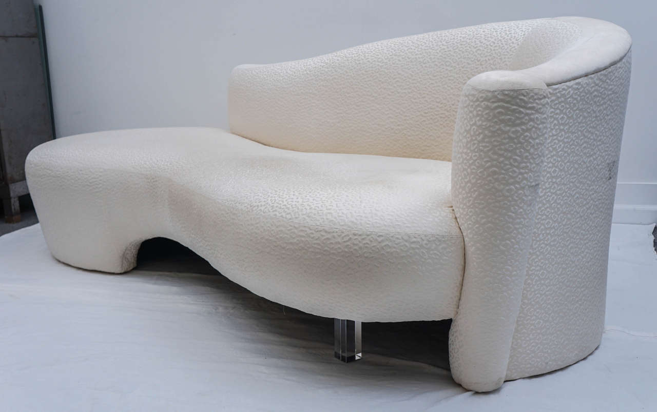 vladimir kagan for weiman serpentine fainting couch at 1stdibs