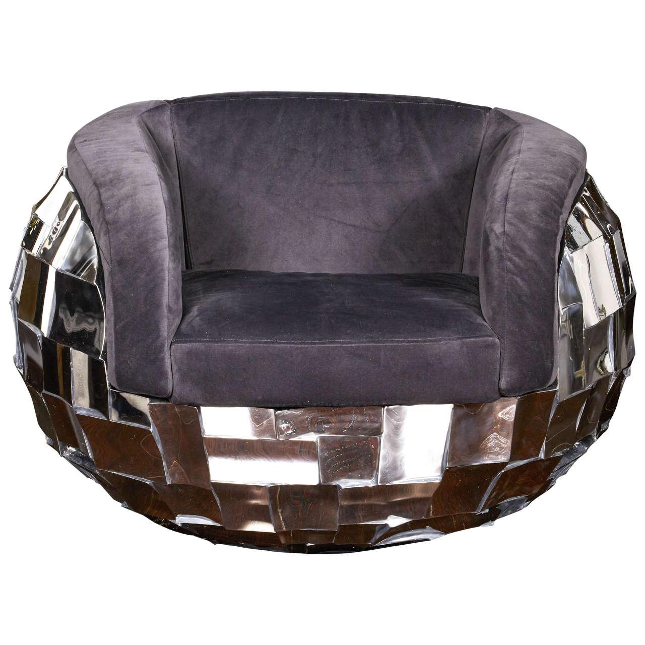 Unique Chair: Unique Patchwork Metal Chair For Sale At 1stdibs