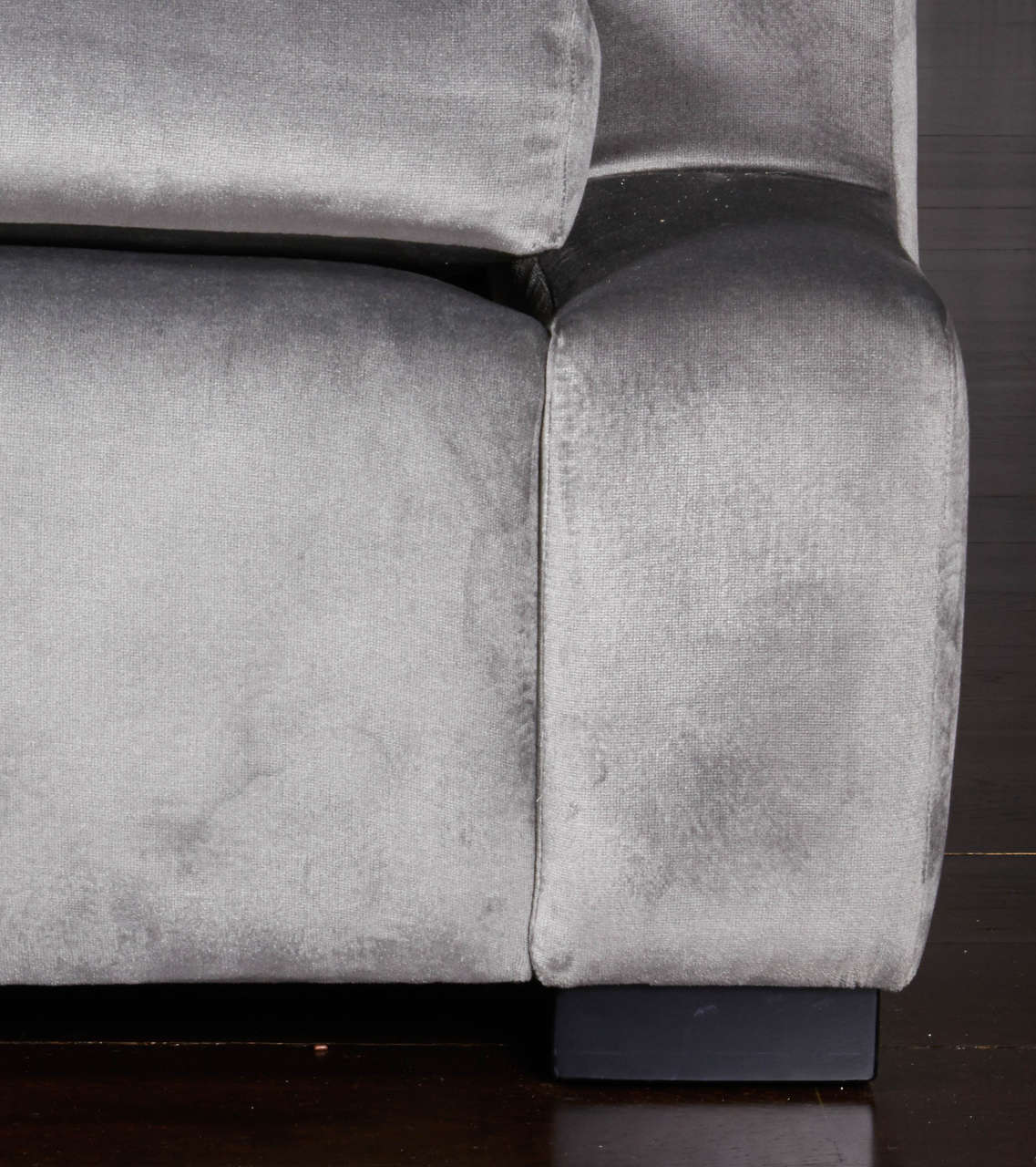 Custom T T T T Sofa With Four Custom Pillows With Flange Detail For Sale At 1stdibs