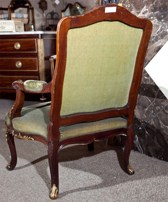Pair of Walnut Carved Armchairs image 8