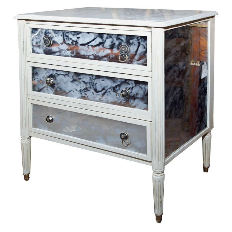 Marble-Top French Directoire Style Commode