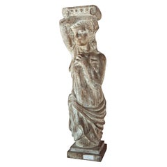 Carved Solid Wood Figure or Pedestal