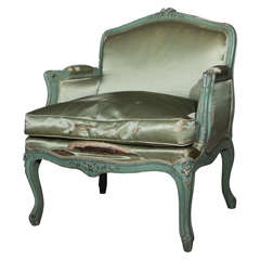 French Painted Childs Bergere Chair by Jansen