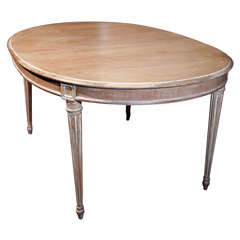 French Louis XIV Style DIstressed Dining Table