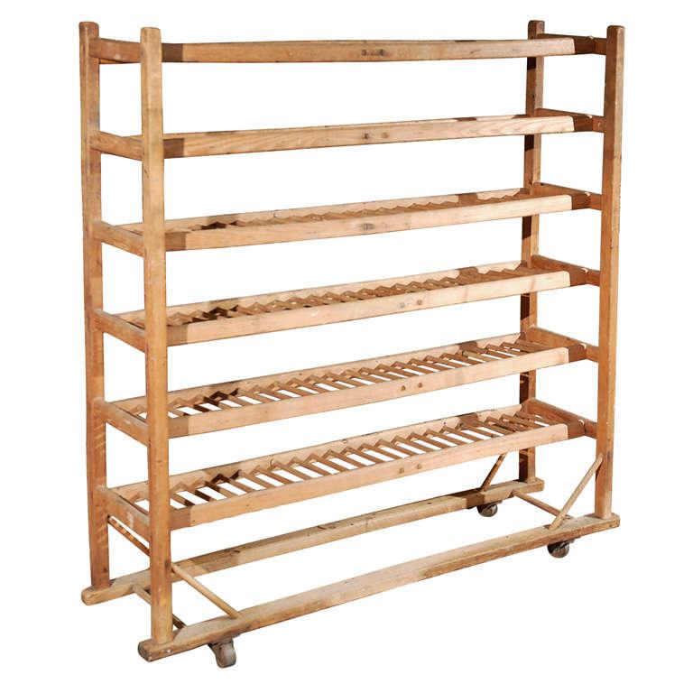 Old Wood Bread Rack At 1stdibs