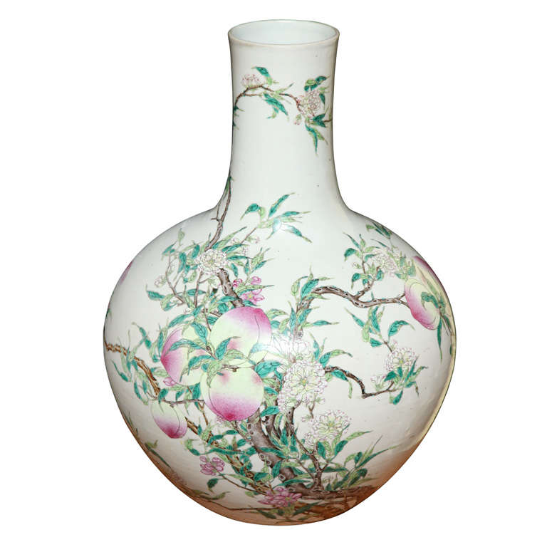 Antique Chinese Porcelain Peach Blossom Vase 1819th Century At 1stdibs