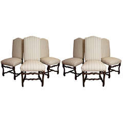 Set of Six Os de Mouton Style Dining Chairs