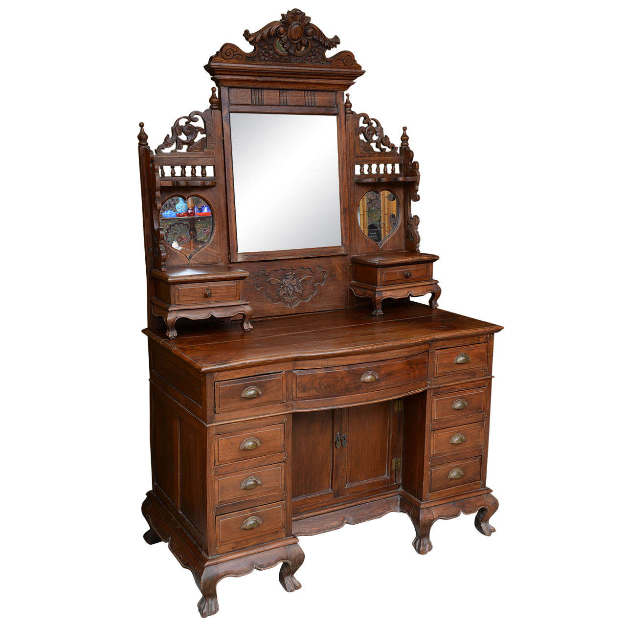 Asian, Chinese Vanity Dressing Table Desk, 19Th Century -5609
