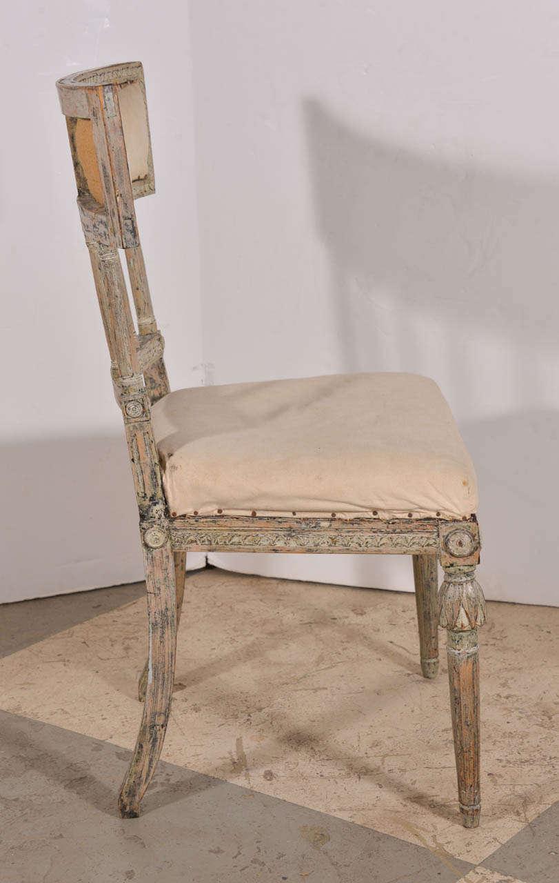 Swedish Gustavian DIning Chairs At 1stdibs