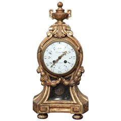 Louis XVI Style Giltwood Clock by Causard, Paris