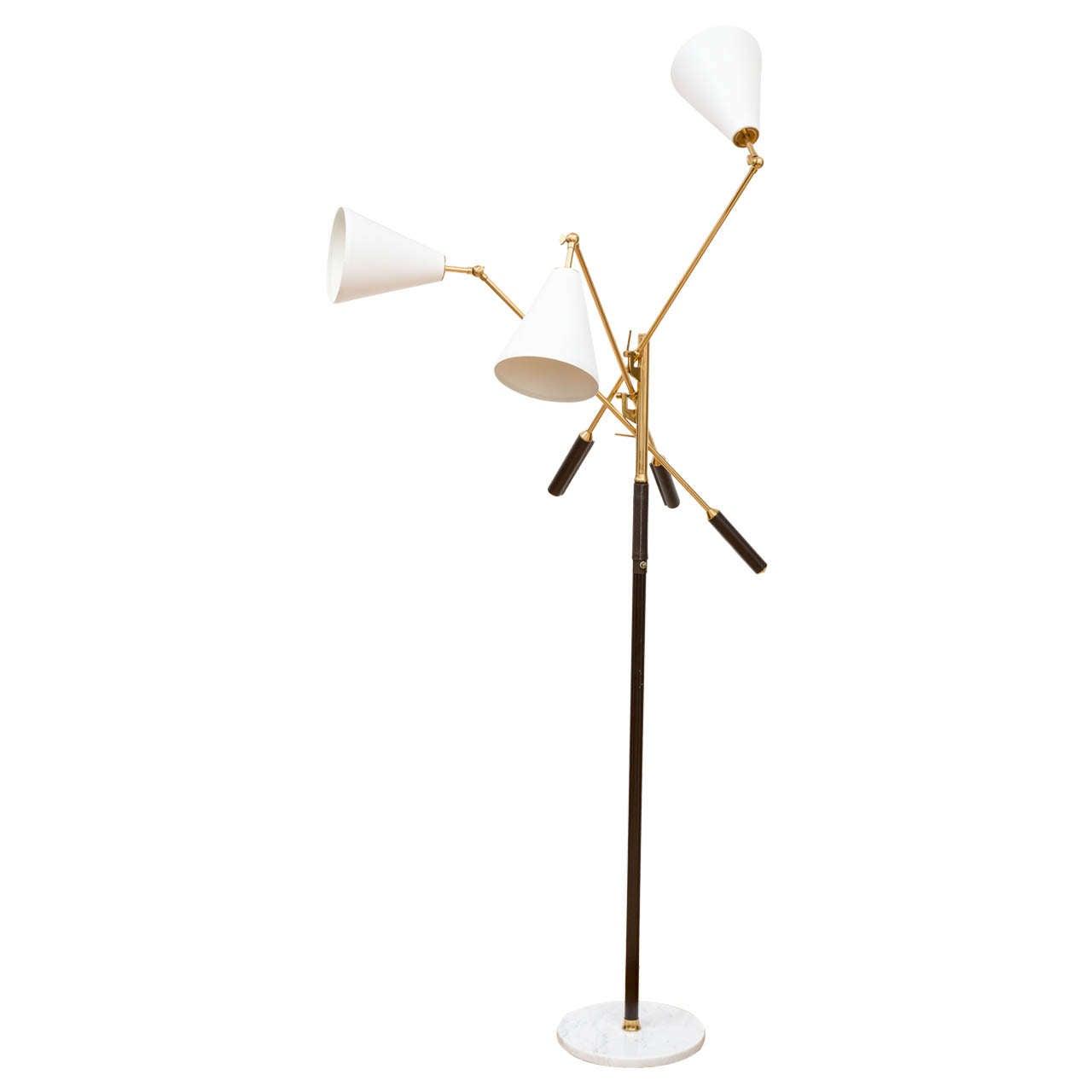 Arredoluce triennale brass floor lamp at 1stdibs for Arredo luce