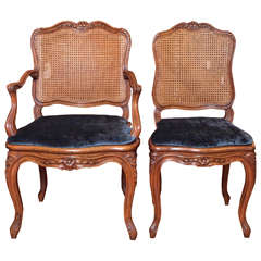 Set of Ten Antique French Carved Walnut Dining Chairs, circa 1880-1890