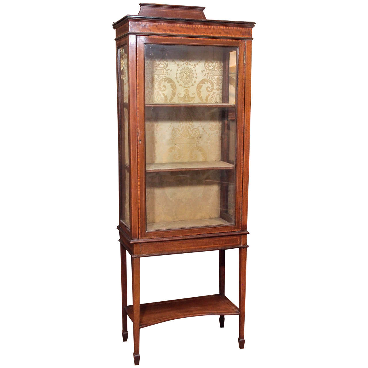 antique english mahogany 19th century vitrine at 1stdibs. Black Bedroom Furniture Sets. Home Design Ideas