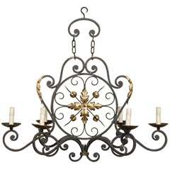 A French Six Light Chandelier