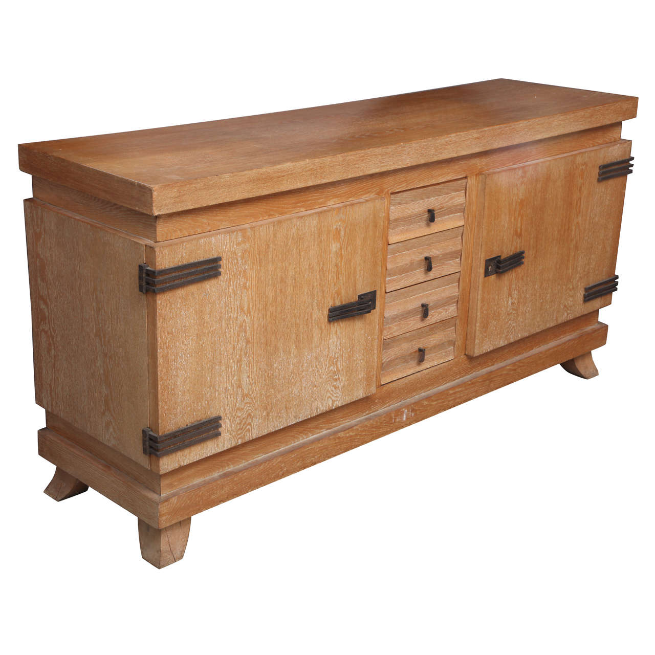 Cerused French Oak Kitchens And Cabinets: Outstanding French Cerused Oak And Iron Cabinet At 1stdibs