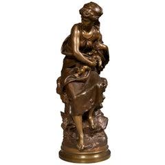 Bronze Statue by Mathurin Moreau