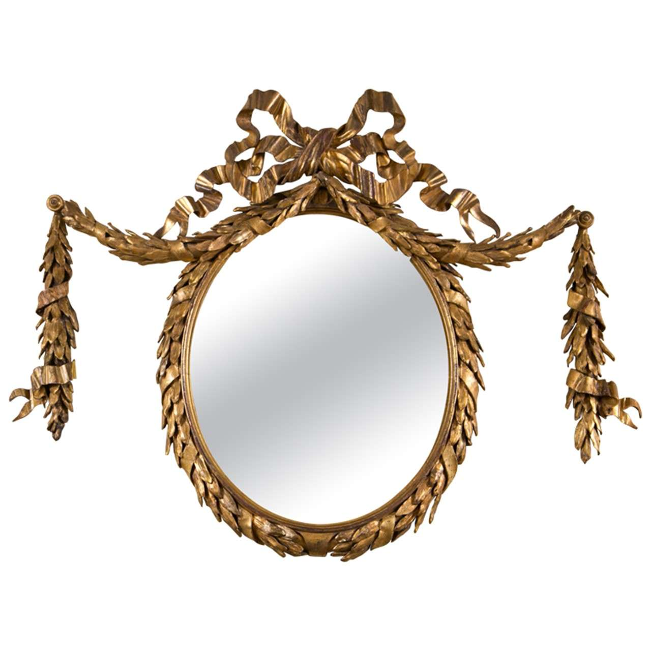 Oval gilt mirror for What is a gilt mirror
