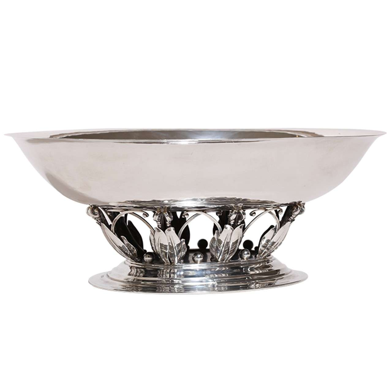 Georg Jensen Sterling Silver Centerpiece Coupe #306 A For Sale