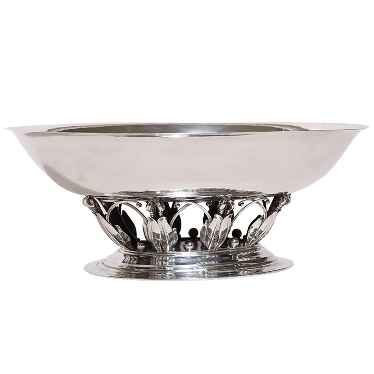 georg jensen sterling silver centerpiece coupe 306 a for. Black Bedroom Furniture Sets. Home Design Ideas