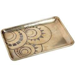 Art Deco Dinanderie Tray by Laurent Llaurensou