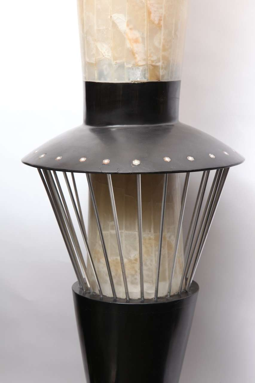 A 1950 S Italian Futurist Floor Lamp Marble Onyx And